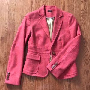 Gorgeous Pink Wool J. Crew Blazer